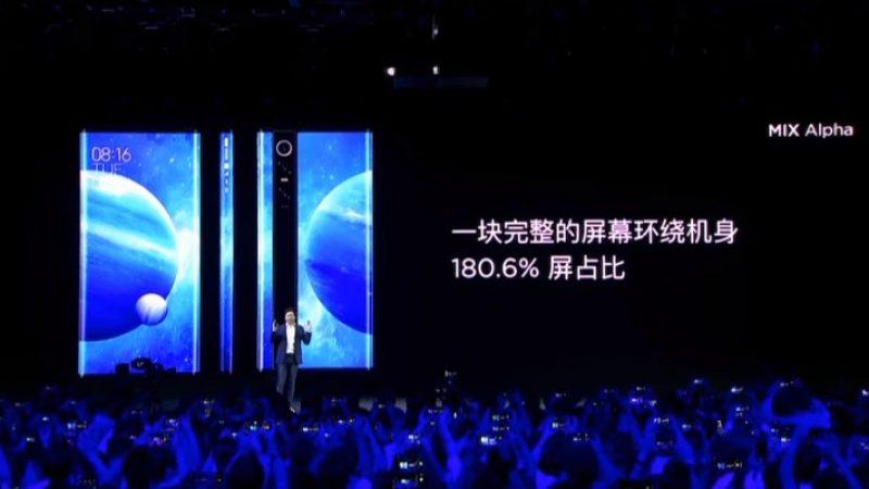 Xiaomi Mi Mix Alpha : un smartphone déroutant dont l'écran recouvre quasiment toute la coque