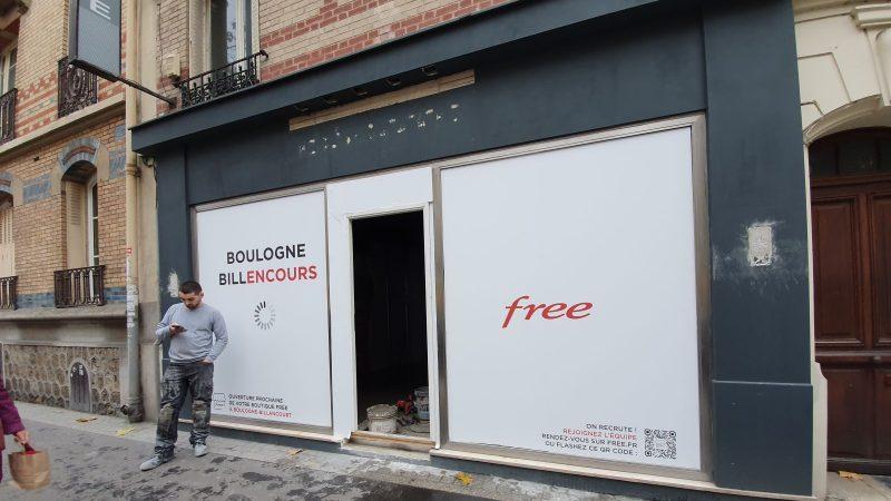 Clin d'oeil : le jeu de mots de Free sur une nouvelle boutique en cours de chargement