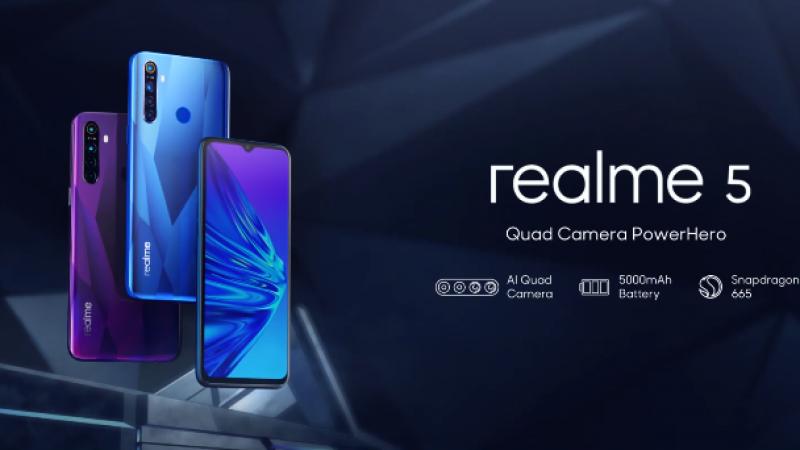 Realme 5 : une grosse batterie et une compatibilité 4G 700Mhz à moins de 160€
