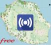Découvrez la répartition des antennes Free Réunion 3G/4G à Ruisseau Blanc
