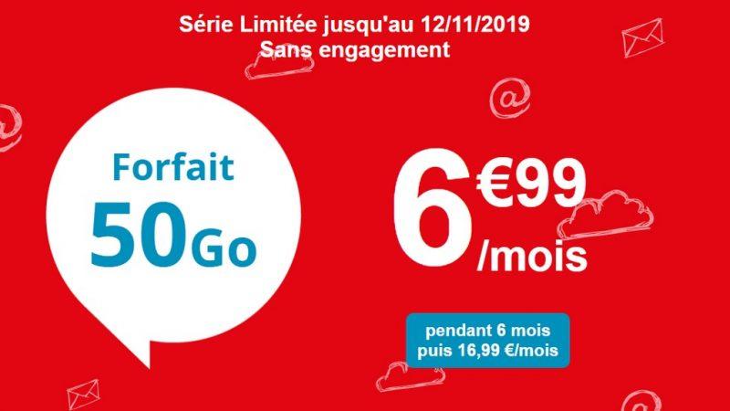 Auchan Telecom propose un forfait 50 Go en promo à 6,99 euros par mois