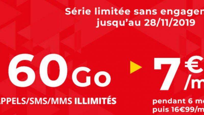 Auchan telecom propose une nouvelle promo sur son forfait 60Go sans engagement