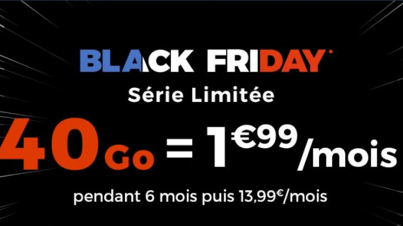Cdiscount Mobile lance une promo spéciale Black Friday avec un forfait 40Go à 1.99€/mois