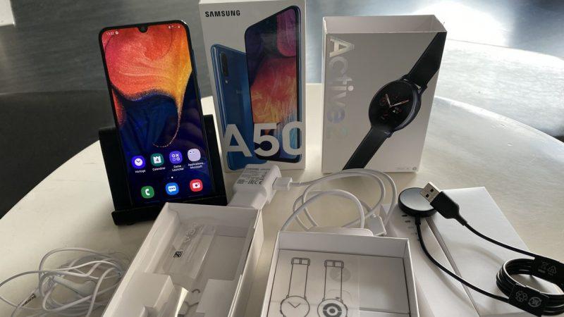 Univers Freebox a testé le smartphone Galaxy A50, en duo avec la nouvelle montre connectée de Samsung