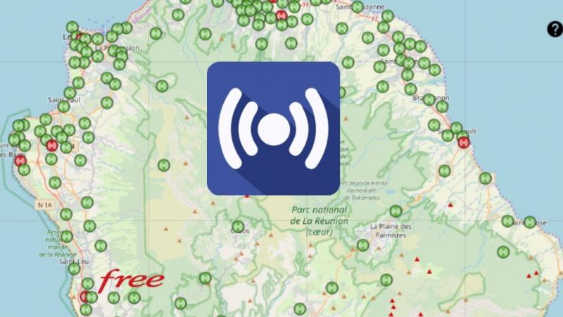 Découvrez la répartition des antennes mobiles Free 3G/4G sur La Possession