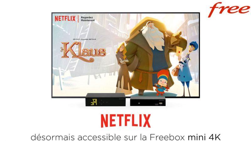Découvrez l'interface de Netflix sur la Freebox mini 4K