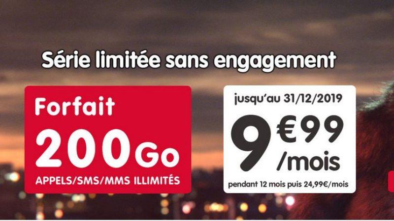 NRJ Mobile canarde une nouvelle promo avec un forfait 200 Go pour 9.99€ par mois