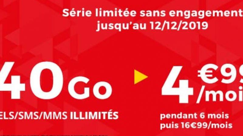 Auchan Telecom propose une nouvelle promo sur son forfait 40Go pour 4.99€ par mois