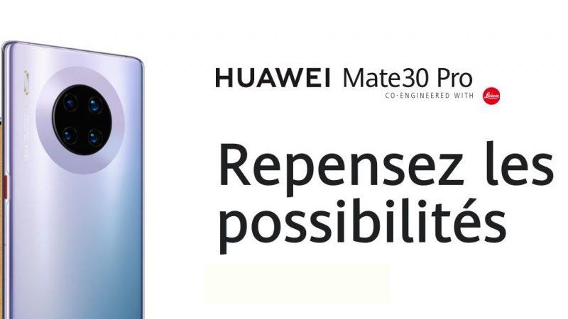 Le Huawei Mate 30 Pro sortira bien en France le 9 décembre, sans les services de Google
