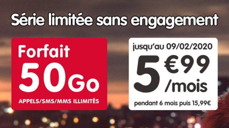 NRJ Mobile lance une nouvelle série limitée avec un forfait à 50Go sans engagement