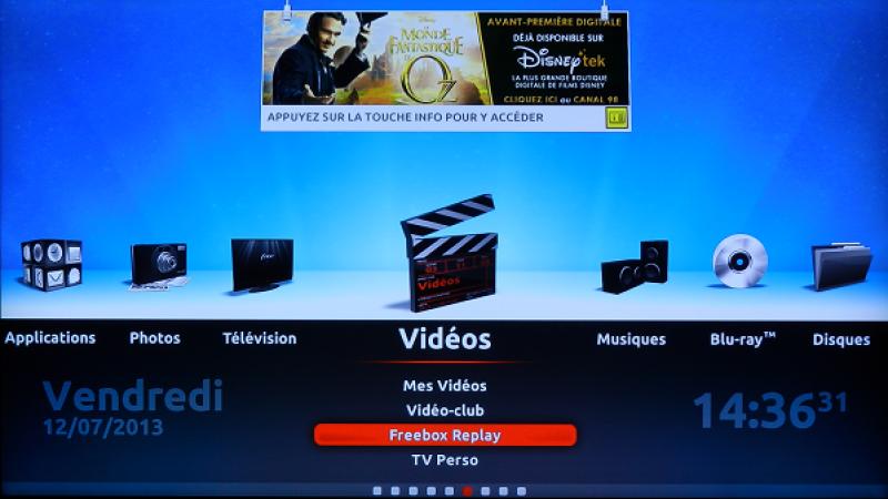 Freebox Révolution : Gérez l'affichage de la bannière d'information de Freebox TV