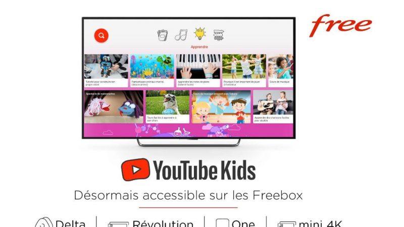 YouTube Kids débarque sur Freebox Révolution, Delta, One et mini 4K, sans surcoût