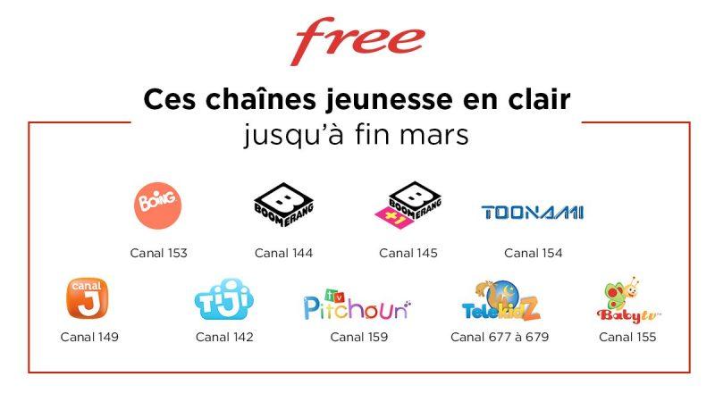 Free offre 8 chaînes jeunesse et un bouquet TV à ses abonnés Freebox