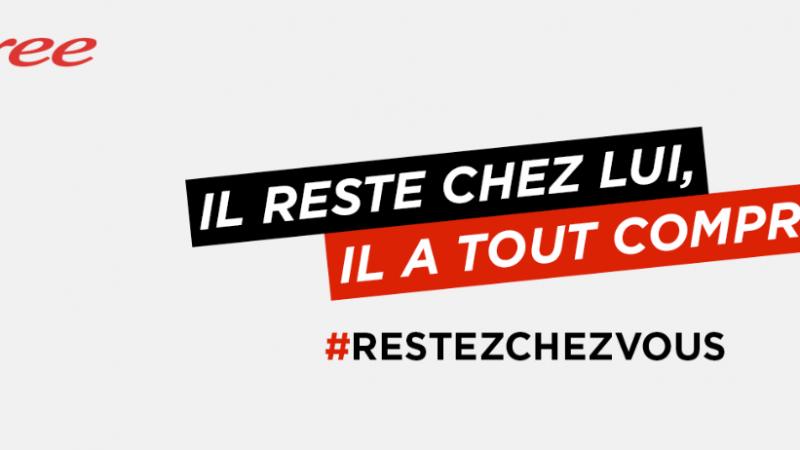 """Free participe à sa façon à la campagne de confinement des français : """"Il reste chez lui, il a tout compris"""""""