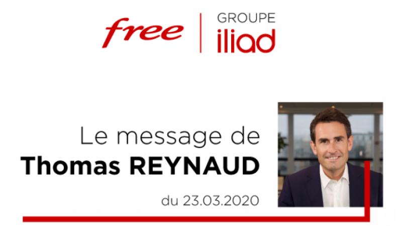"""Free : Thomas Reynaud s'adresse aux salariés concernant le COVID-19 et annonce la mise en place d'une """"boîte à idéesolidaire"""""""