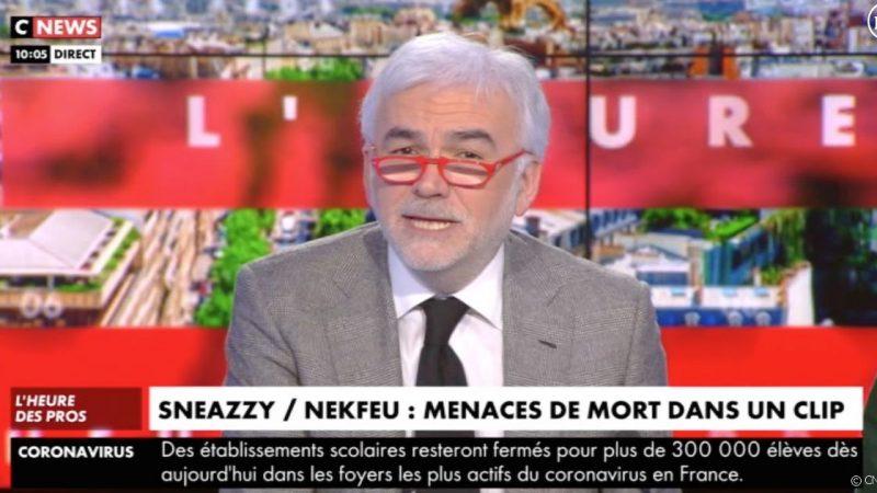 Cnews : menaces de mort proférées à son encontre, Pascal Praud réagit aux paroles d'un texte de Sneazzy et Nekfeu