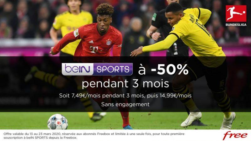 Free propose une nouvelle promo sur beIN Sports à ses abonnés Freebox