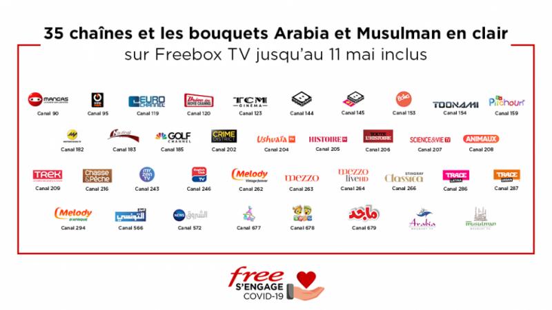 Free annonce offrir plus de 30 chaînes et deux bouquets TV à tous les abonnés Freebox en mai