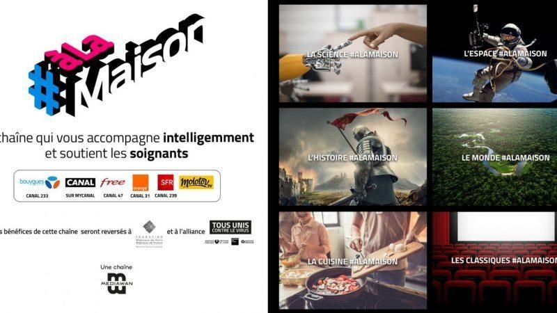 Focus sur la grille TV du 29 avril au 5 mai de #ALaMaison la chaîne éphémère de Mediawan
