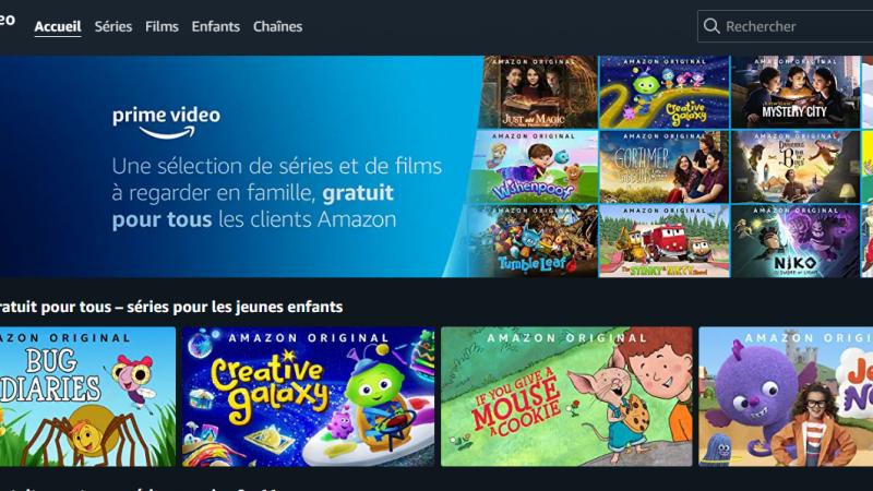 Amazon propose gratuitement à tous ses clients une sélection de séries et de films pour la famille