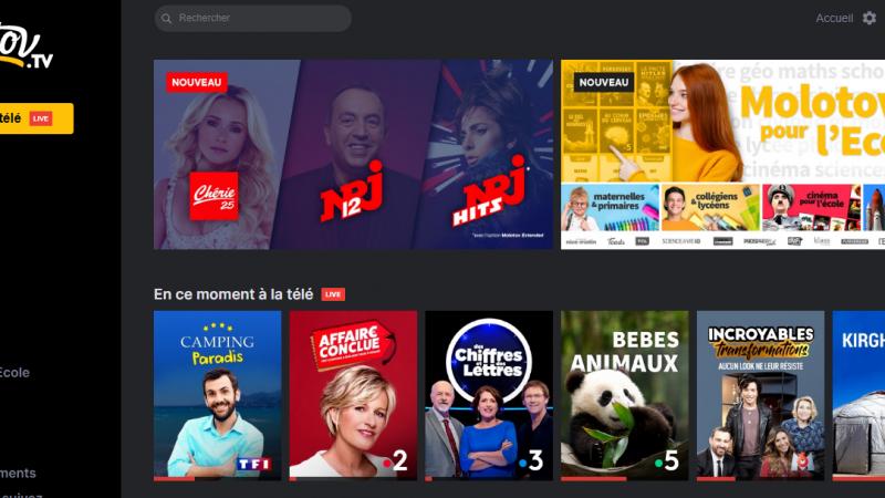 Molotov : trois nouvelles chaînes débarquent sur le service de télévision par internet