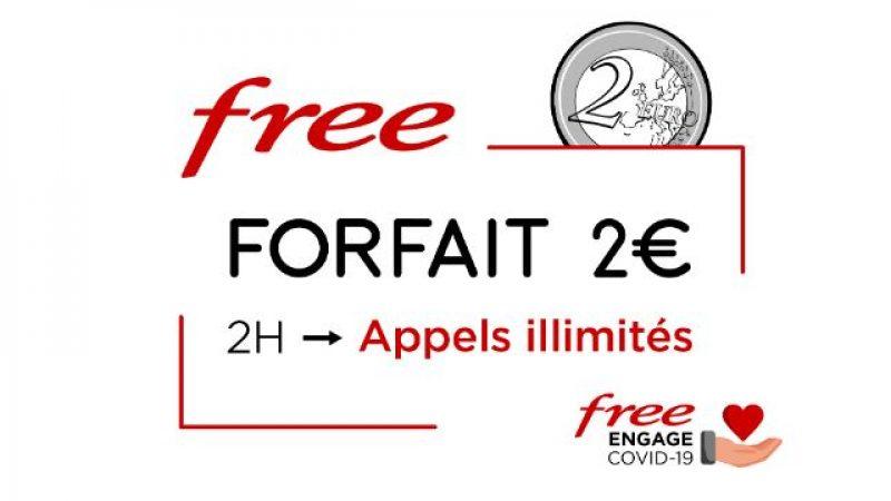 Free Mobile annonce inclure les appels illimités dans son forfait à 2€ jusqu'au 11 juin