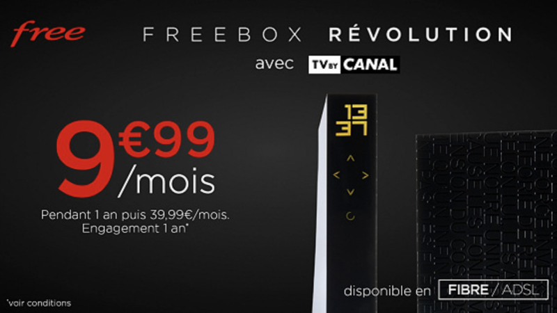 C'est parti pour l'offre promo Freebox Révolution avec TV by Canal à prix cassé