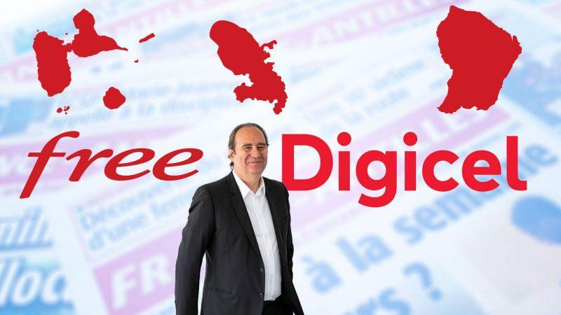 Free utilisera les antennes et les infrastructures de l'opérateur Digicel aux Caraïbes et en Guyane Française