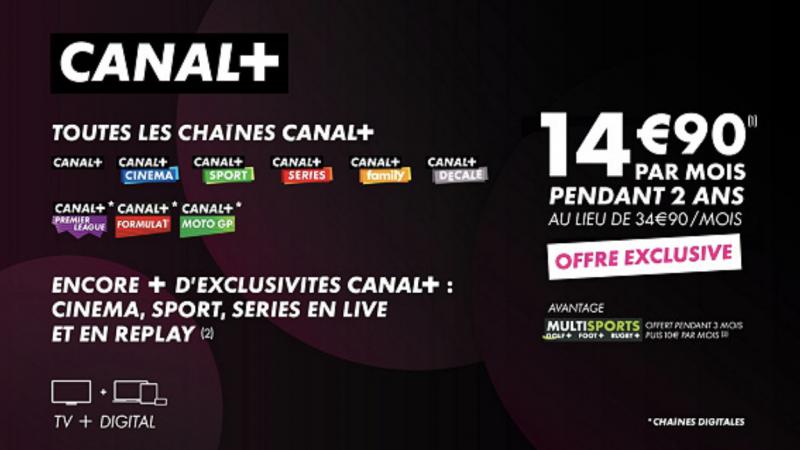 """Canal+ lance une nouvelle vente privée """"exclusive"""" incluant toutes ses chaînes TV, disponible sur toutes les box"""