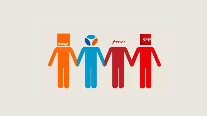 Mobile : comparatif du nombre d'abonnés chez Orange, Free, SFR et Bouygues