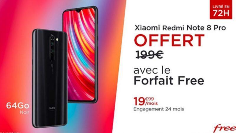 Free lance sa nouvelle vente privée, avec un forfait 100Go et un Xiaomi Redmi Note 8 Pro offert contre 24 mois d'engagement