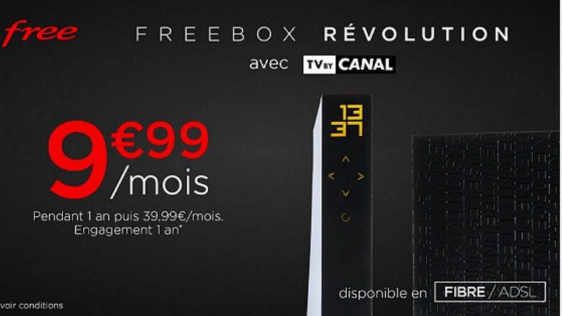 Free prolonge la vente privée Freebox Révolution avec TV by Canal à prix cassé
