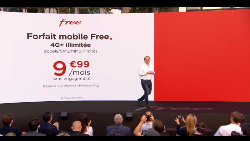 Le forfait Free avec data illimitée à 9,99€/mois pour les abonnés Freebox POP