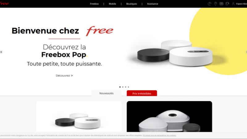 Free revoit son site Internet et éclaircit la présentation de ses offres