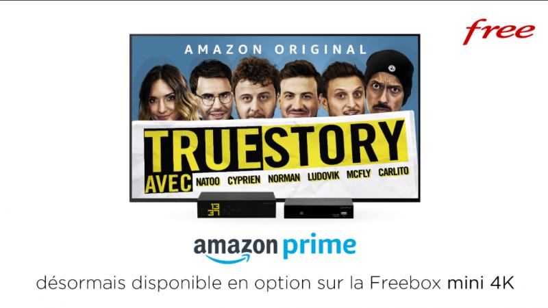 Free lance l'option Amazon Prime (Prime Vidéo, music, etc.) dans son offre Freebox Mini 4K