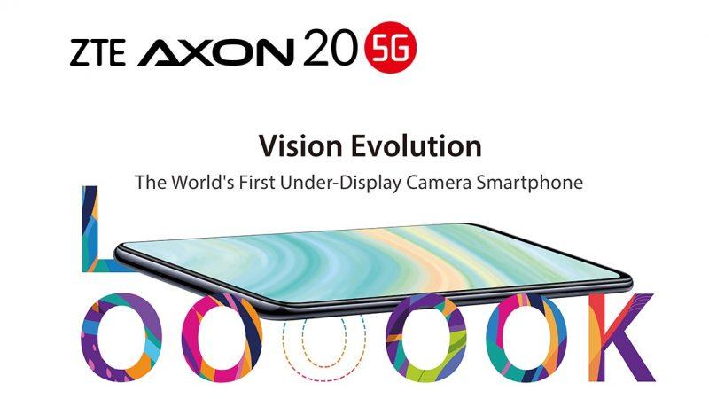 ZTE présente le premier smartphone doté d'une caméra sous l'écran, l'Axon 20 5G