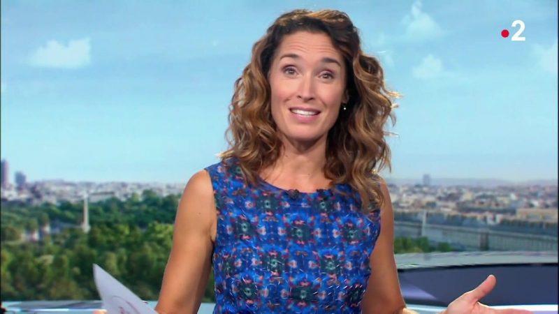 """Marie SophieLacarrausuccède à Jean-Pierre Pernaut à la présentationdu""""13 Heures"""" de TF1."""