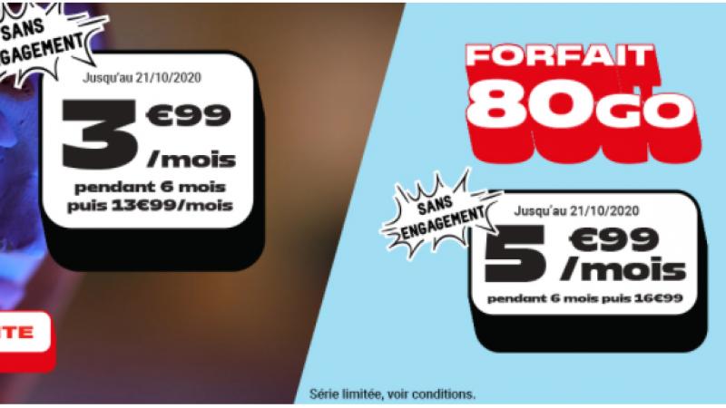 NRJ Mobile : deux forfaits 40 Go et 80 Go sans engagement en promotion à moins de 6 euros