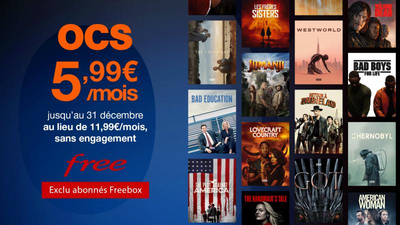 Exclu Free : profitez d'OCS à moitié prix dès maintenant sur votre Freebox
