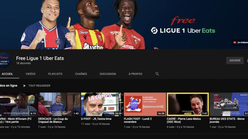Free Ligue 1 Uber Eats débarque sur YouTube et assure la pérennité de la gratuité de ses contenus exclusifs