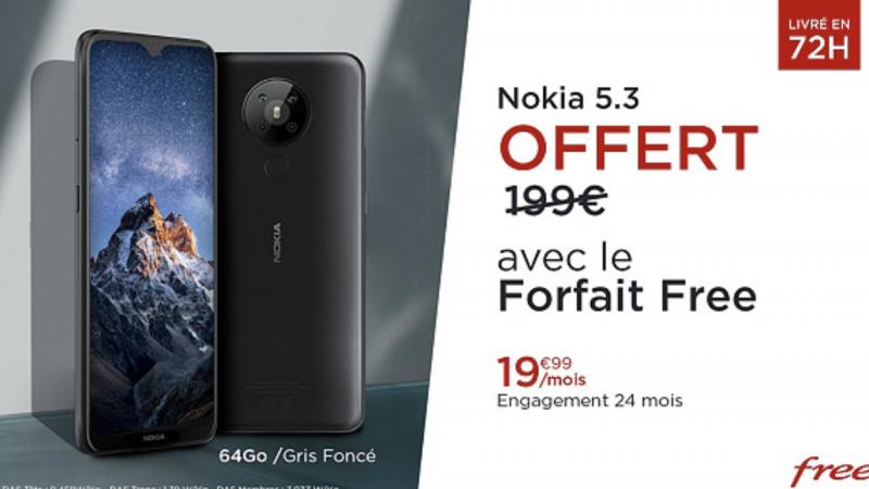 Smartphone Nokia 5.3 offert avec un forfait Free Mobile : l'offre est prolongée de quelques jours