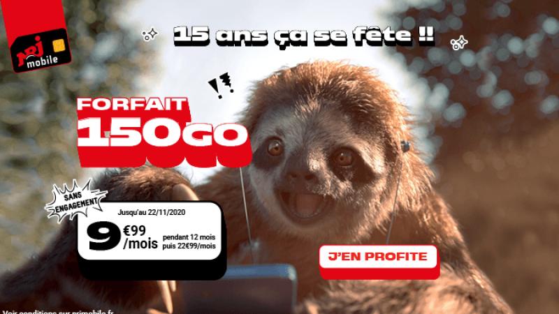Pour ses 15 ans, NRJ Mobile dégaine un forfait 150 Go à moins de 10€