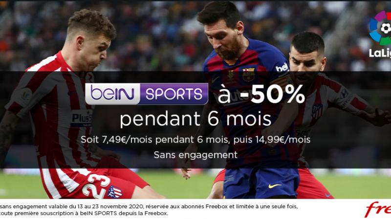Free annonce une grosse promo sur beIN Sports via la Freebox