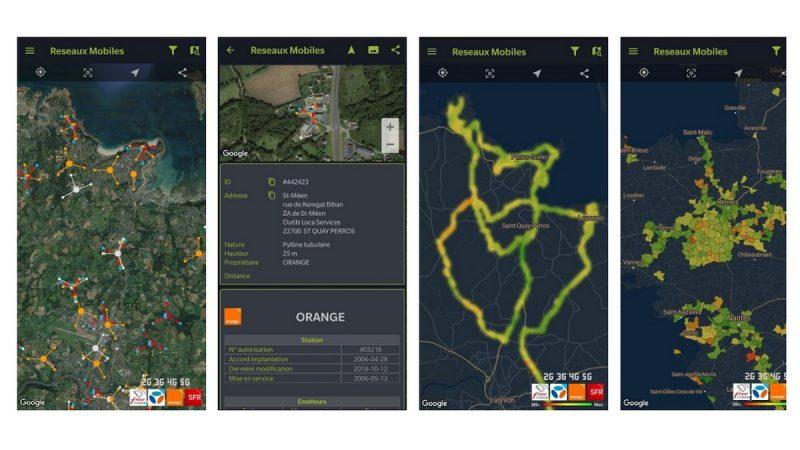Réseaux Mobiles France :  l'application mobile pour en savoir plus sur les antennes de Free et ses rivaux, évolue