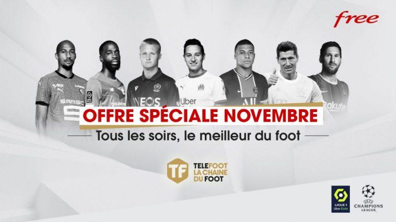 Free annonce une promo sur la chaîne Téléfoot pour les abonnés Freebox