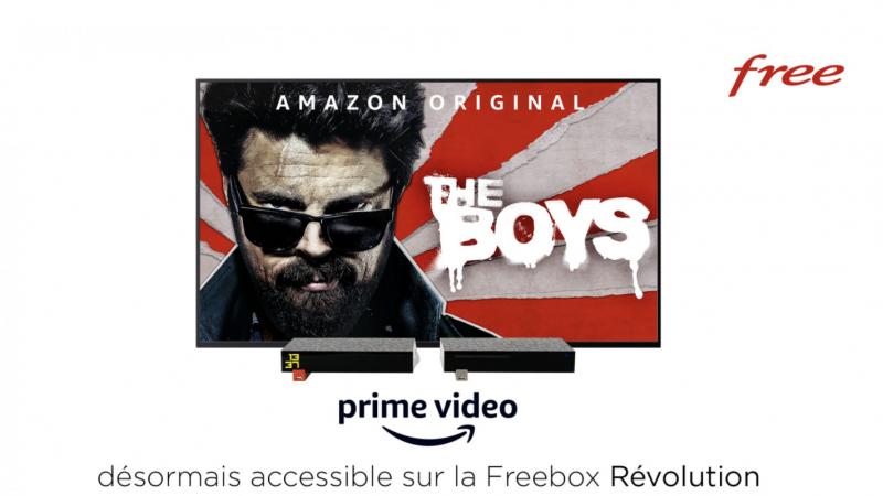Free annonce officiellement, via un mail aux Freenautes, que Prime vidéo est disponible sur la Freebox Révolution, avec 1 mois offert