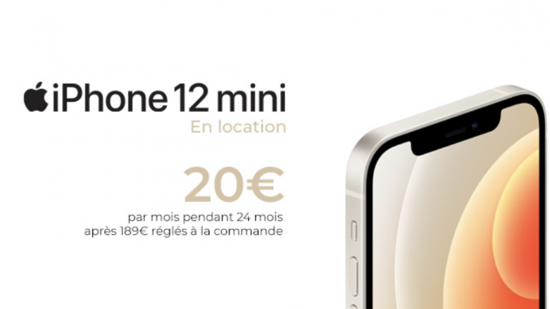 Le nouvel iPhone 12 mini désormais disponible à la location chez Free Mobile