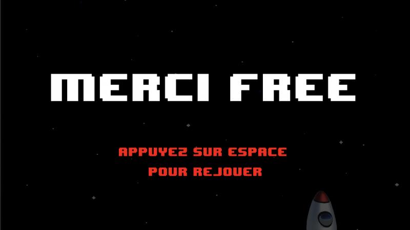 Clin d'oeil : un jeu vidéo cosmique pour l'anniversaire de Free Mobile