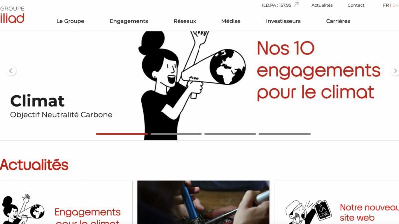 Iliad : la maison-mère de Free lance son nouveau site internet avec des contenus enrichis