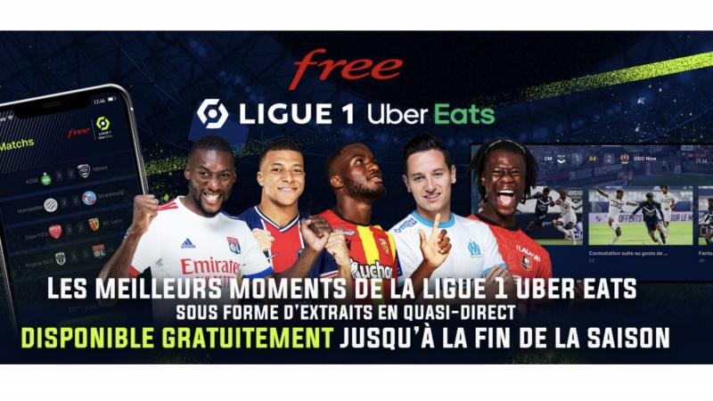 C'est officiel, l'application Free Ligue 1 Uber Eats restera gratuite jusqu'à la fin de la saison 2020-2021